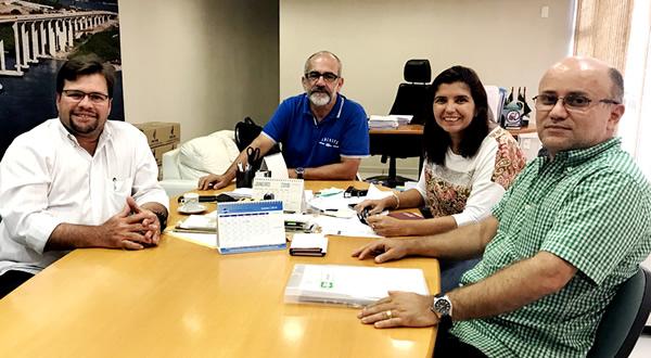 ANEST visita a nova presidente do CREA-RN, engenheira Ana Adalgiza.