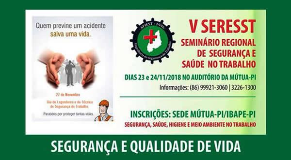 V SERESST – Seminário Regional de Segurança e Saúde no Trabalho