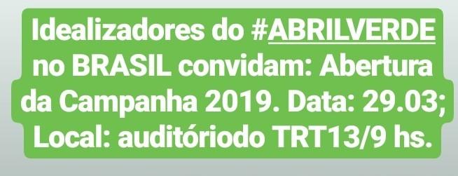 Diretora da ANEST é uma das idealizadoras do Abril Verde no Brasil