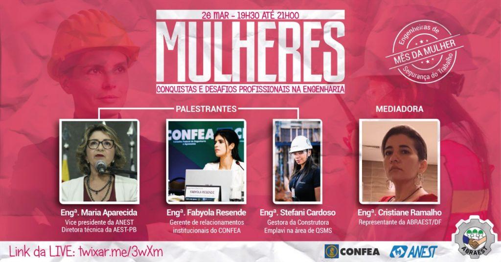 """Live """"Mulheres – Conquistas e Desafios Profissionais na Engenharia"""""""