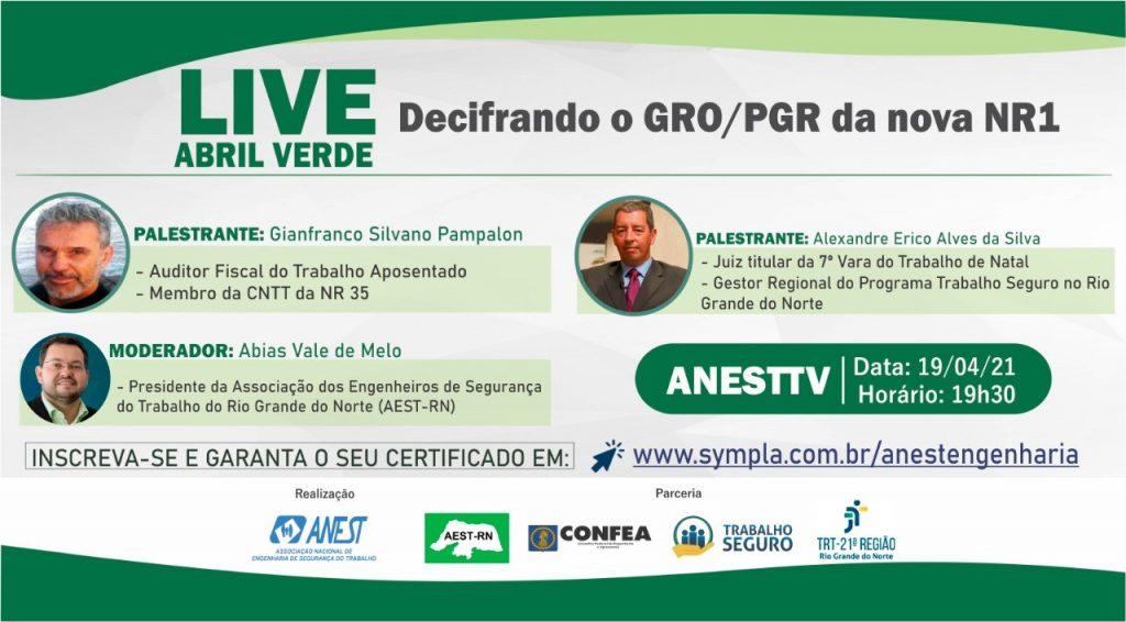 Live Abril Verde – Decifrando o GRO/PGR da nova NR1